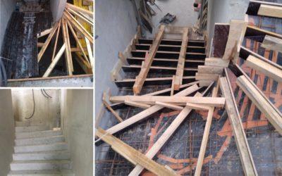 Un escalier coulé en place